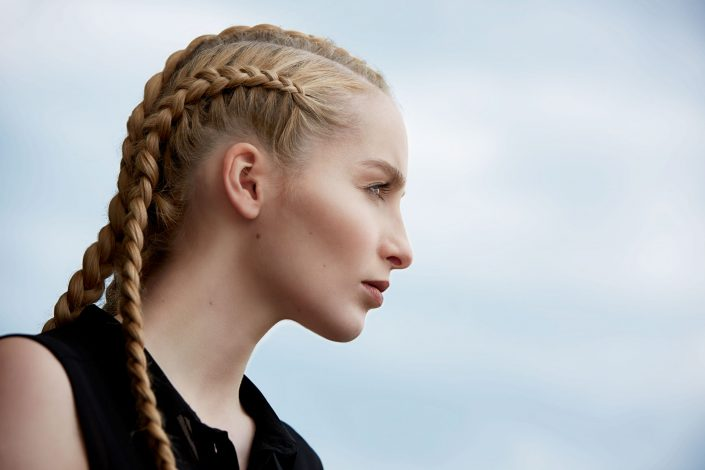 henrike-6, beauty, portrait, braids, natural, profil