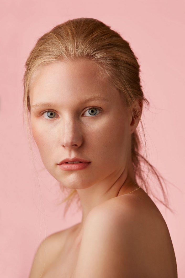 merle-01, beauty, portrait, hair, haare, rosa