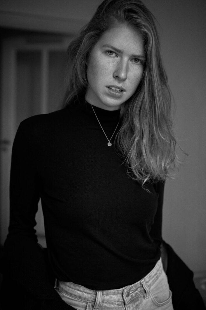 Chiara, Portrait, Schwarzweiß, Flat, 3