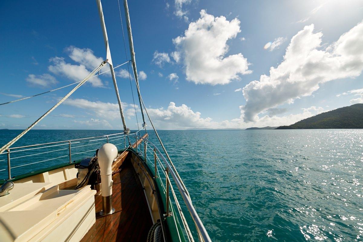 australien-31, meer, segelschiff, wolken, himmel