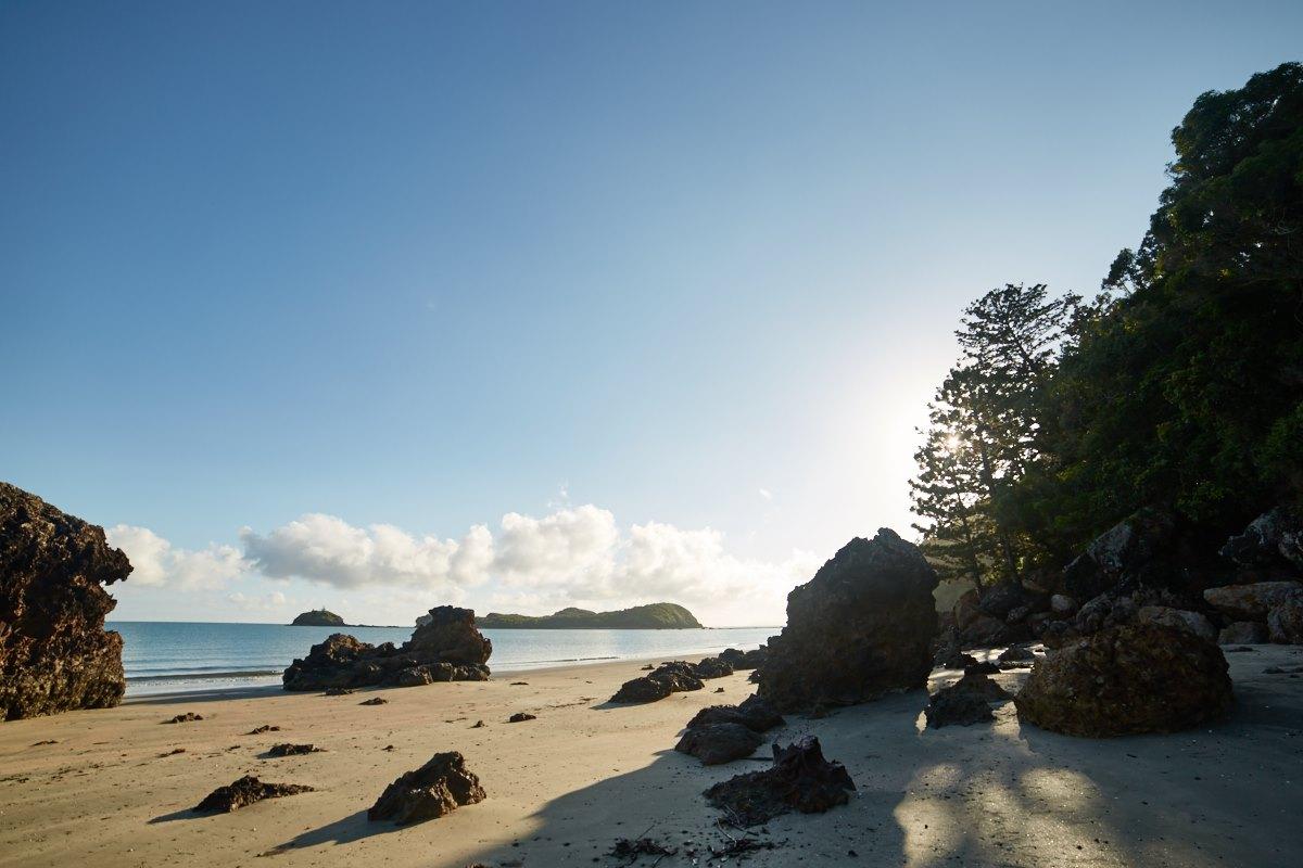 australien-26, strand, meer, sand, felsen