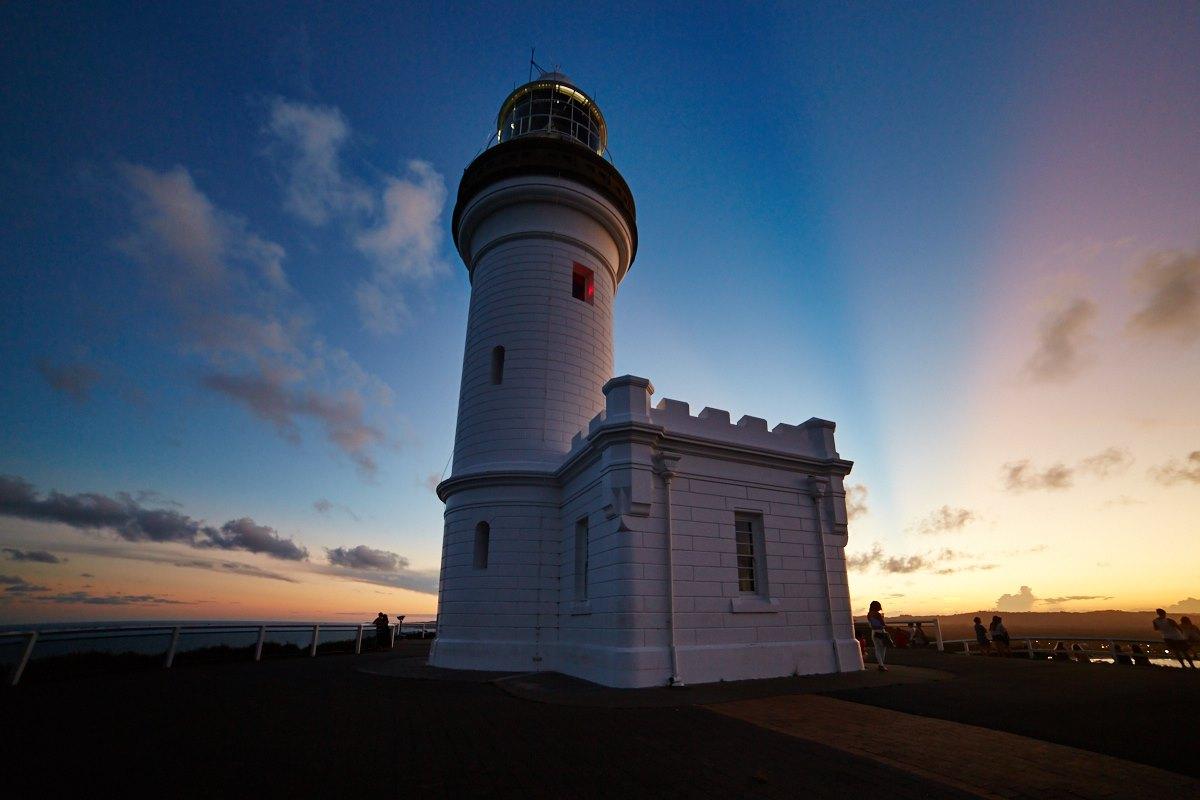 australien-10, leuchtturm, byron bay, sonnenuntergang