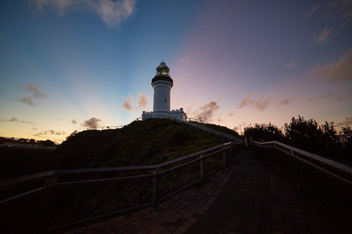 australien-9, byron bay, leuchtturm, abendstimmung