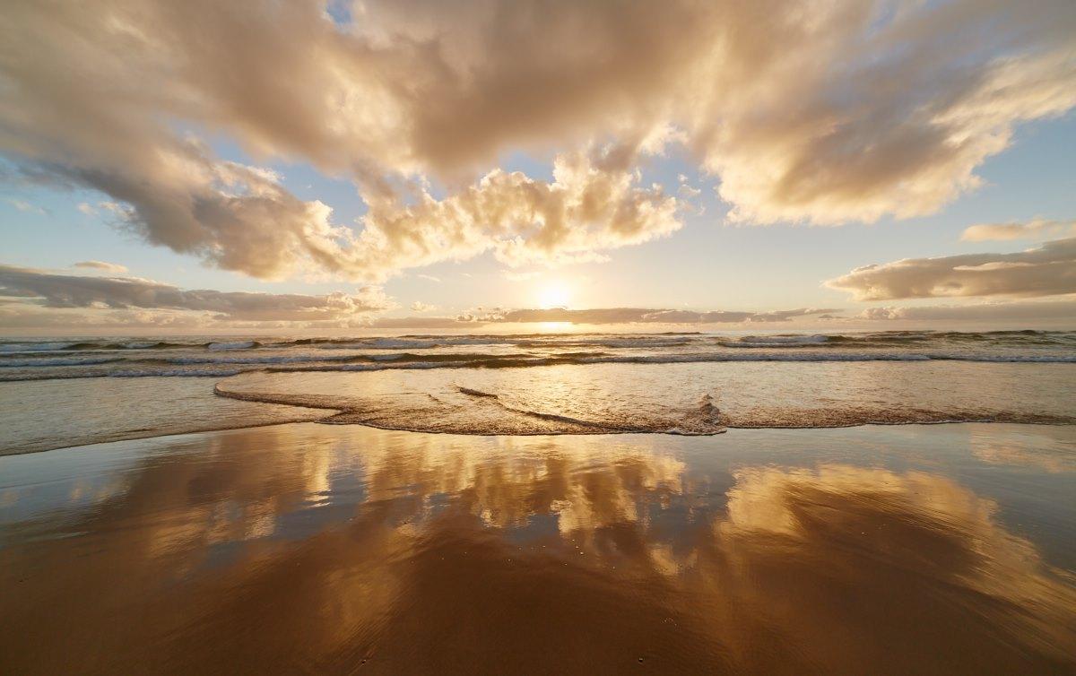 australien-6, sonnenaufgang, meer, strand, landschaft, wolken