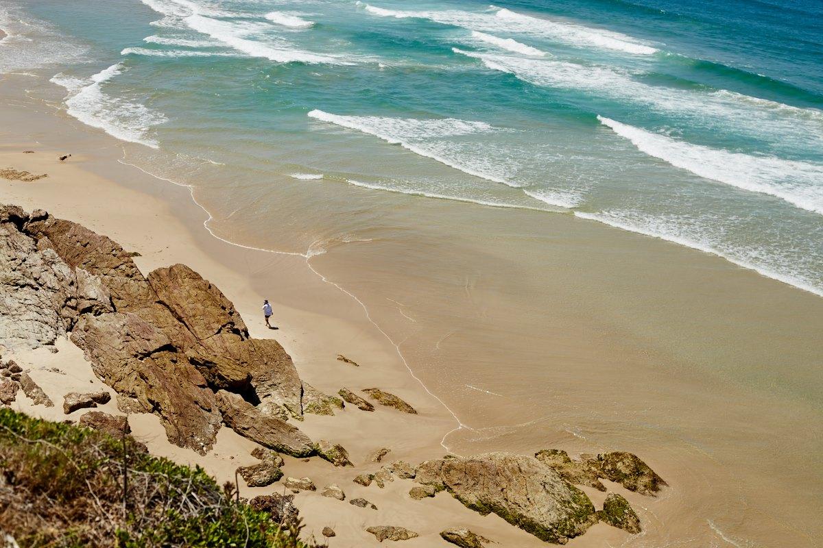 australien-1, strand, meer, vogelperspektive